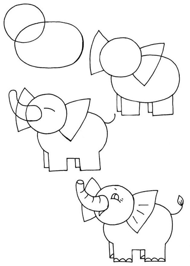 Как просто нарисовать слона?