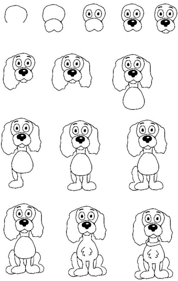 Как просто нарисовать собаку?
