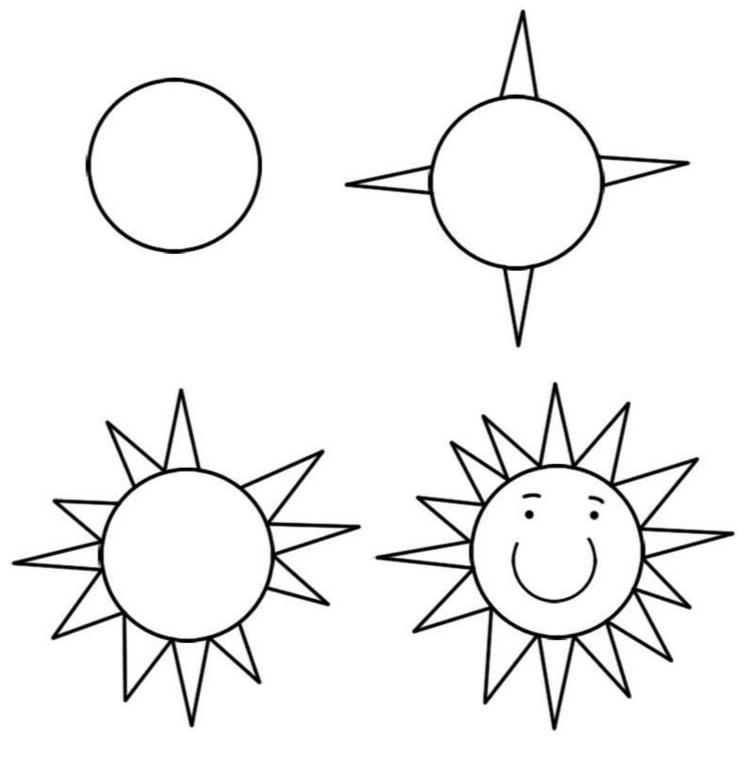 Как просто нарисовать солнце?
