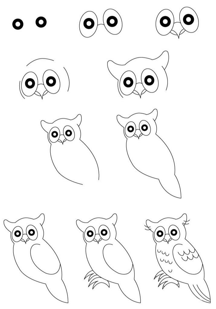 Как просто нарисовать сову?