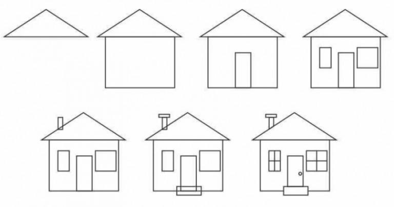 Как просто нарисовать дом?
