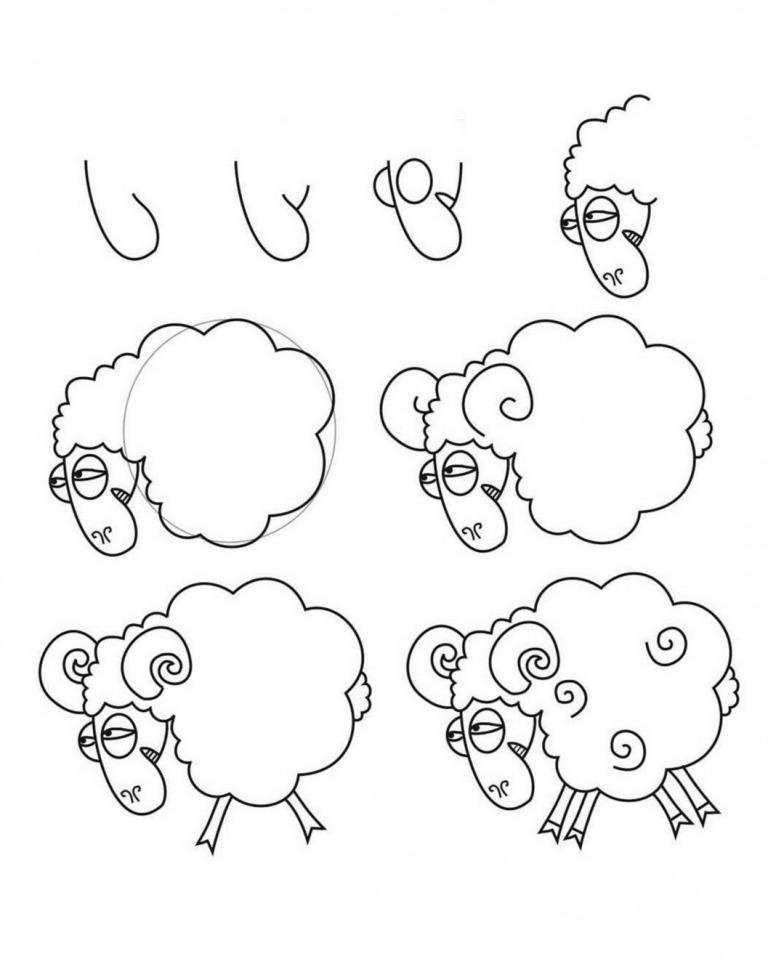 Как просто нарисовать барана?