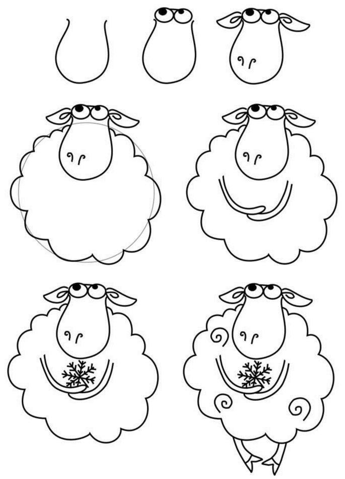 Как просто нарисовать овечку?