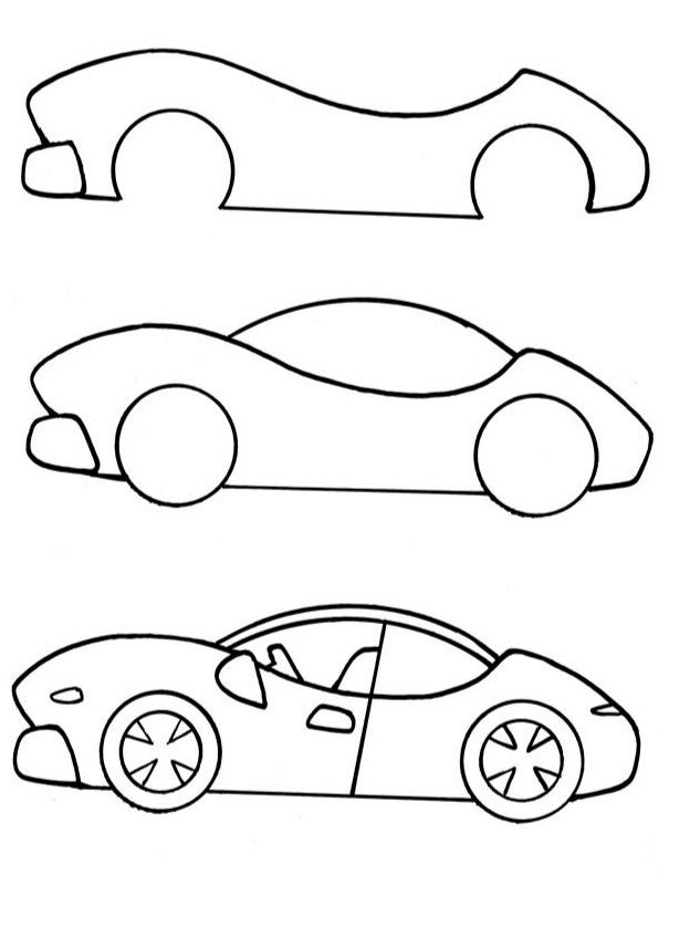 Как просто нарисовать спортивную машину?