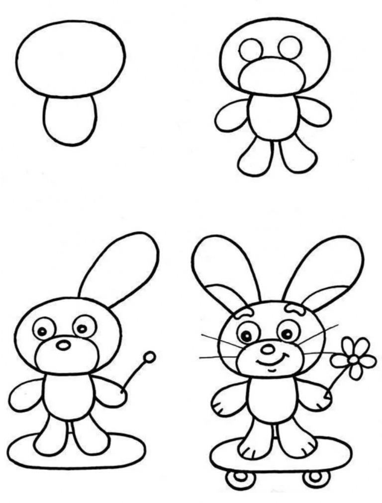 Как просто нарисовать зайчика?