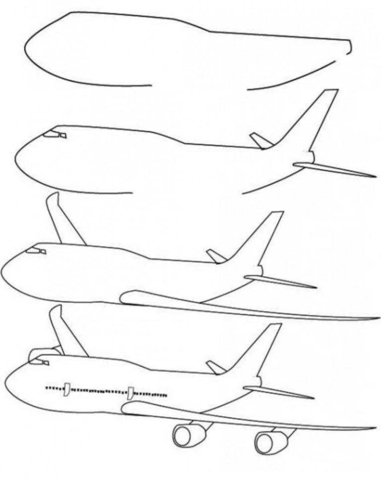 Как просто нарисовать самолёт?