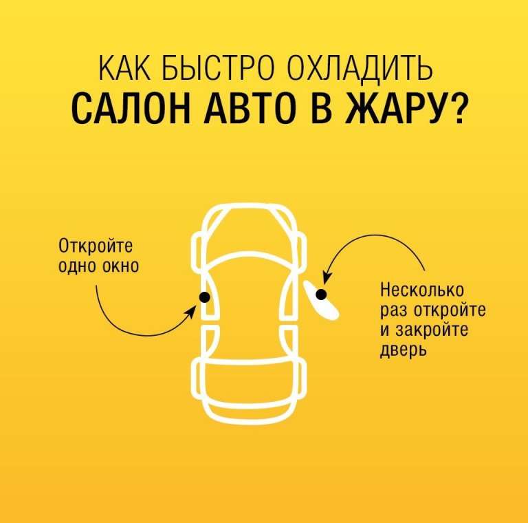 Как быстро охладить салон авто в жару?